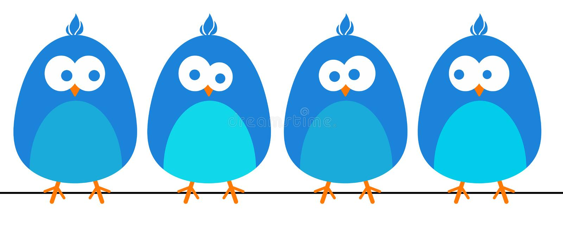 Pájaros azules stock de ilustración