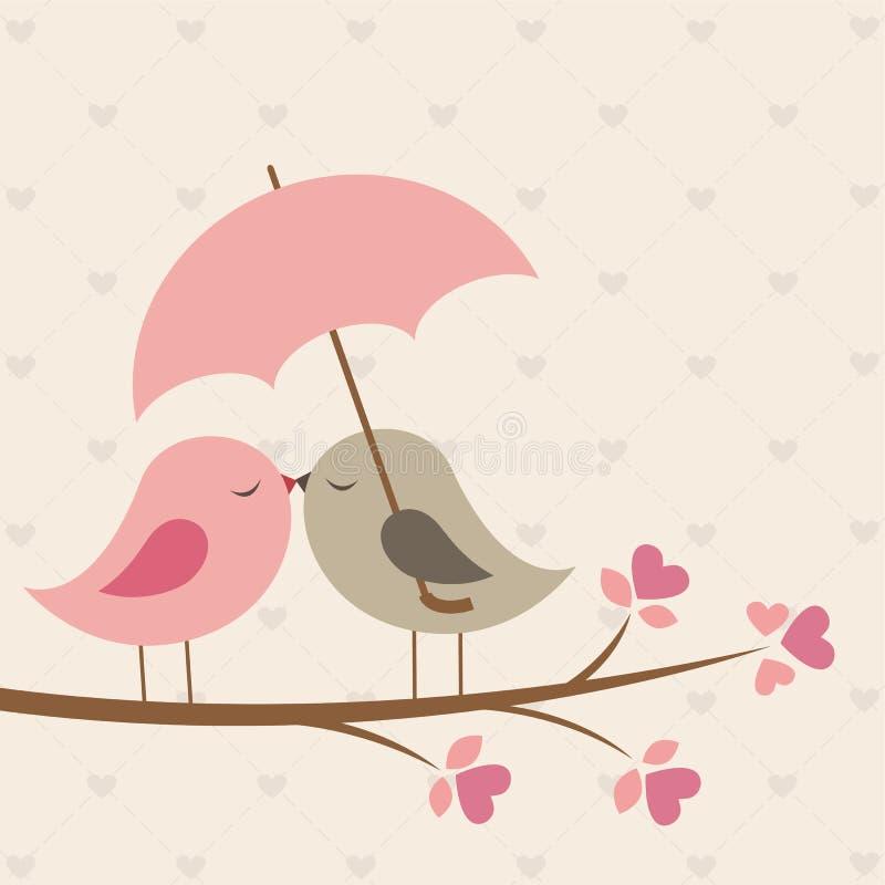 Pájaros bajo el paraguas