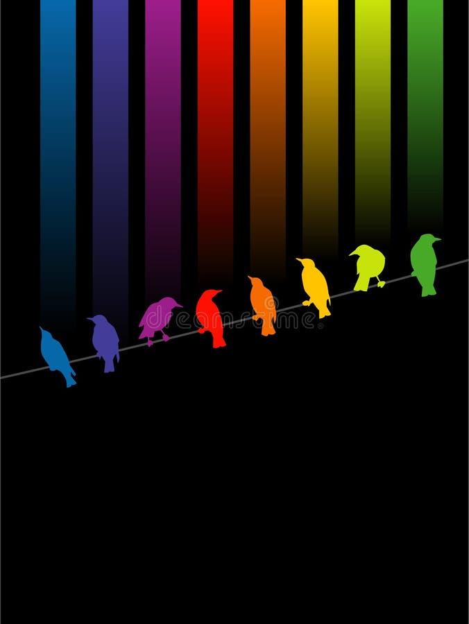 Pájaros coloridos stock de ilustración