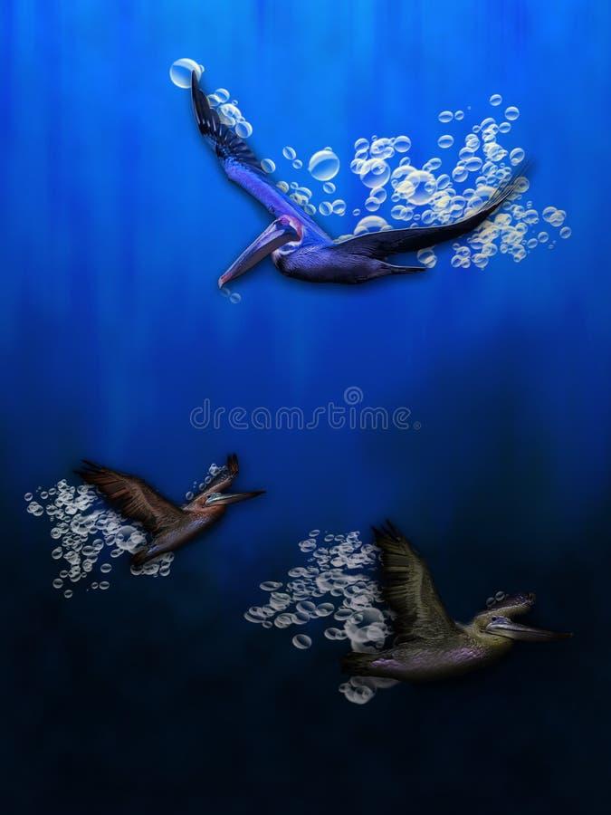 Pájaros de agua stock de ilustración