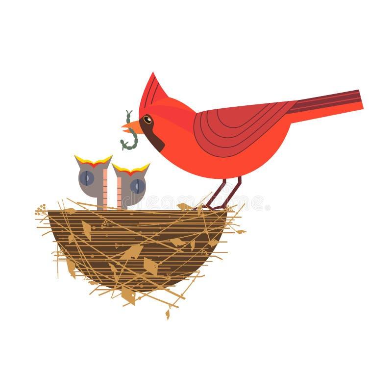 Pájaros de bebé en jerarquía libre illustration
