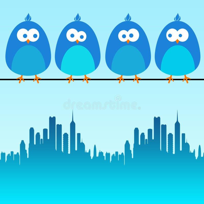 Pájaros de la ciudad libre illustration