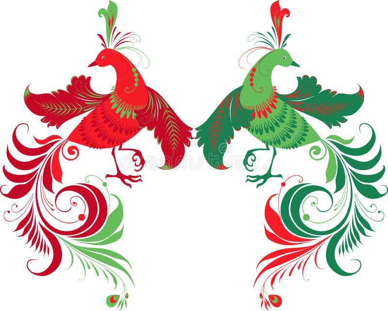 Pájaros de la fantasía libre illustration