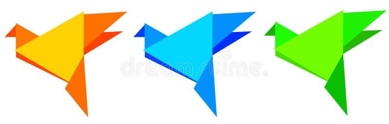 Pájaros de Origami ilustración del vector