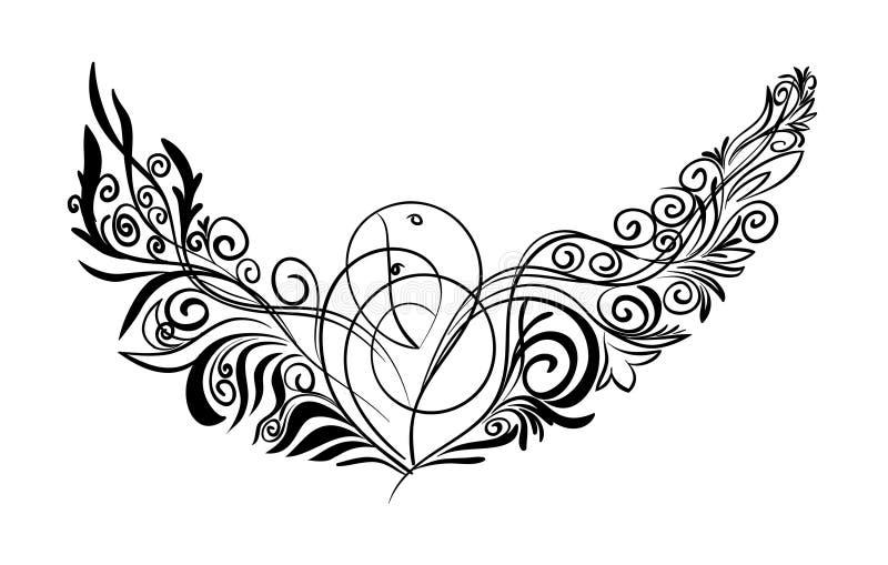 pájaros decorativos ilustración del vector