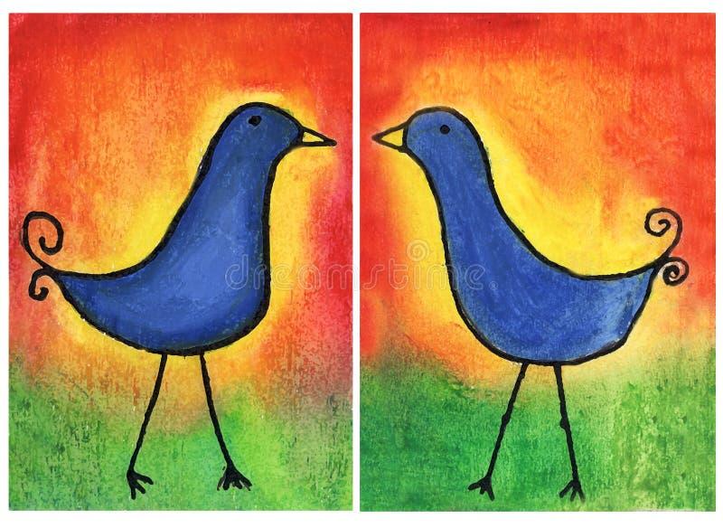 Pájaros del amor ilustración del vector