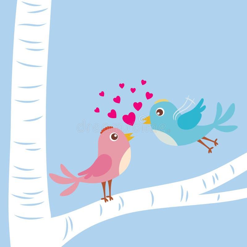 Pájaros del amor stock de ilustración