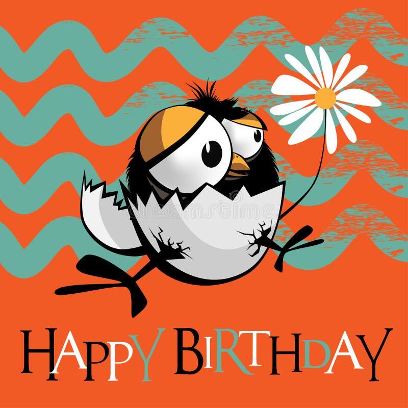 Pájaros del feliz cumpleaños stock de ilustración