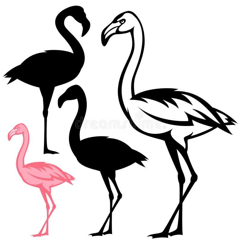 Pájaros del flamenco ilustración del vector