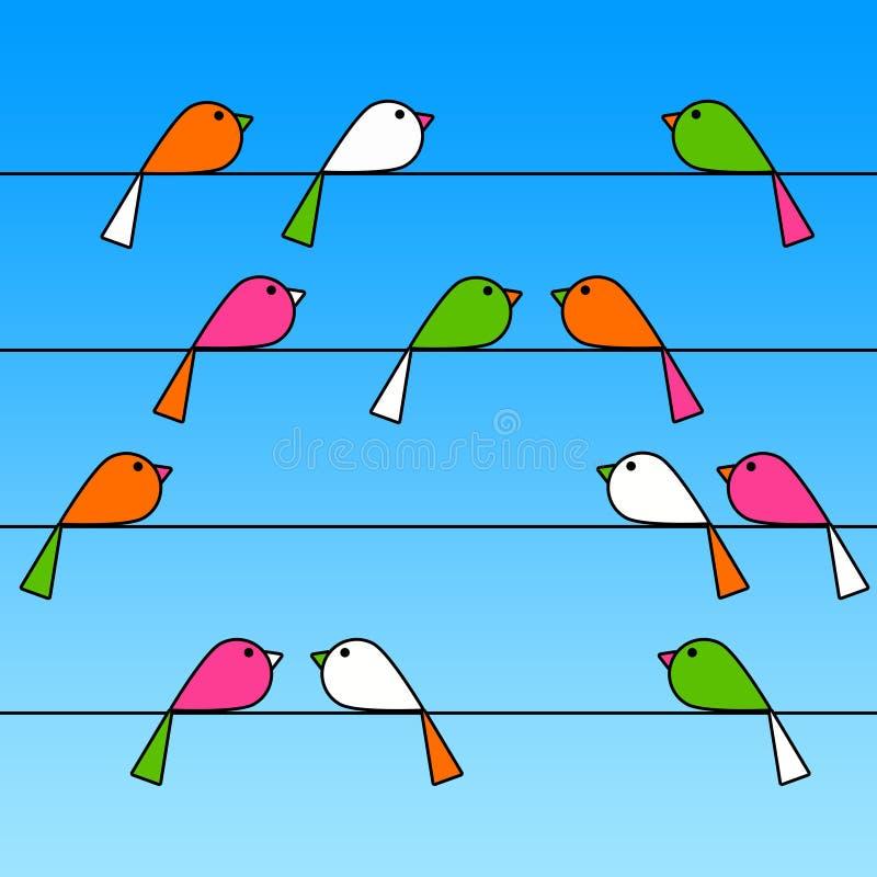 Pájaros del gorjeo stock de ilustración