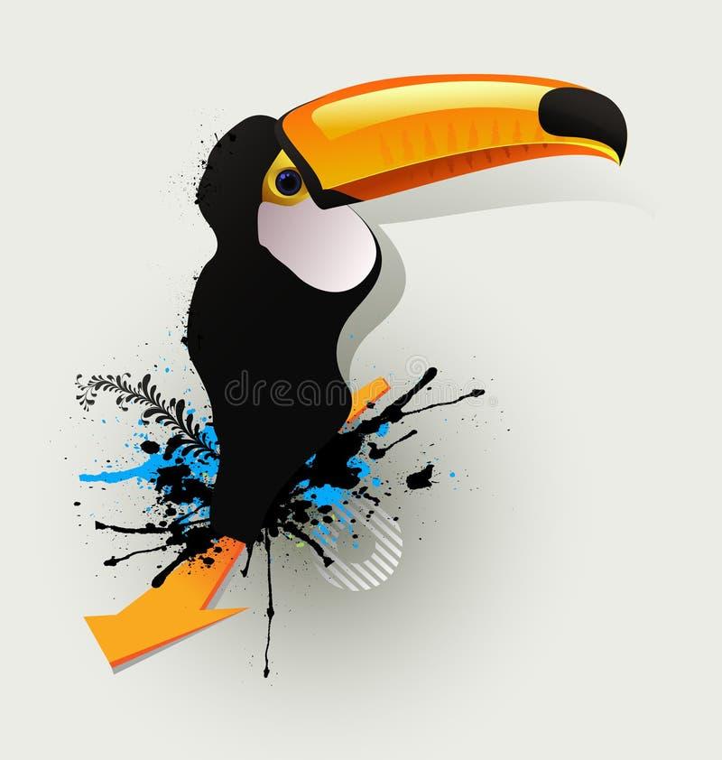 Pájaros del gráfico de la pintada del carácter ilustración del vector