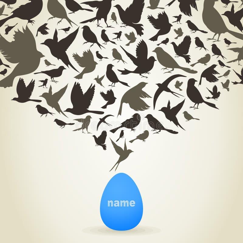 Pájaros del huevo libre illustration