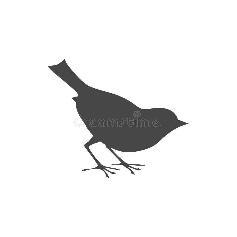 Pájaros del logotipo del vector en vuelo stock de ilustración