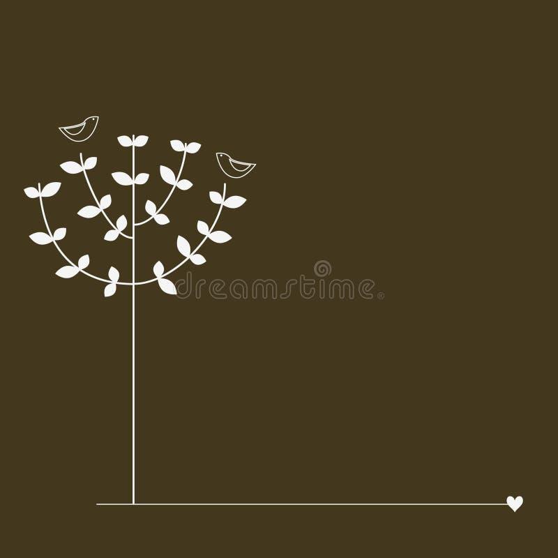 Pájaros en el árbol ilustración del vector
