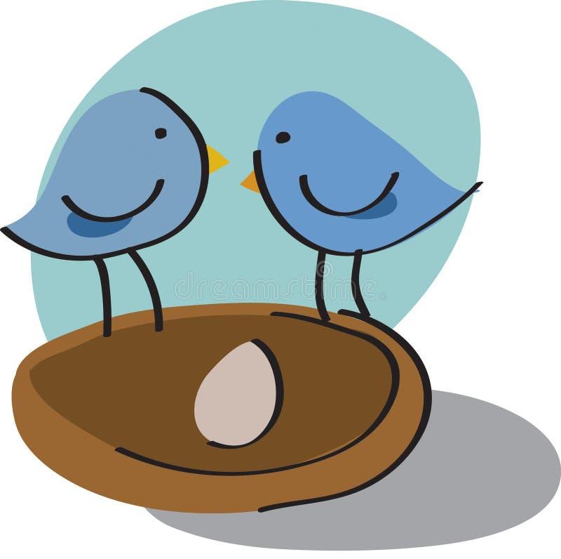 Pájaros en jerarquía libre illustration