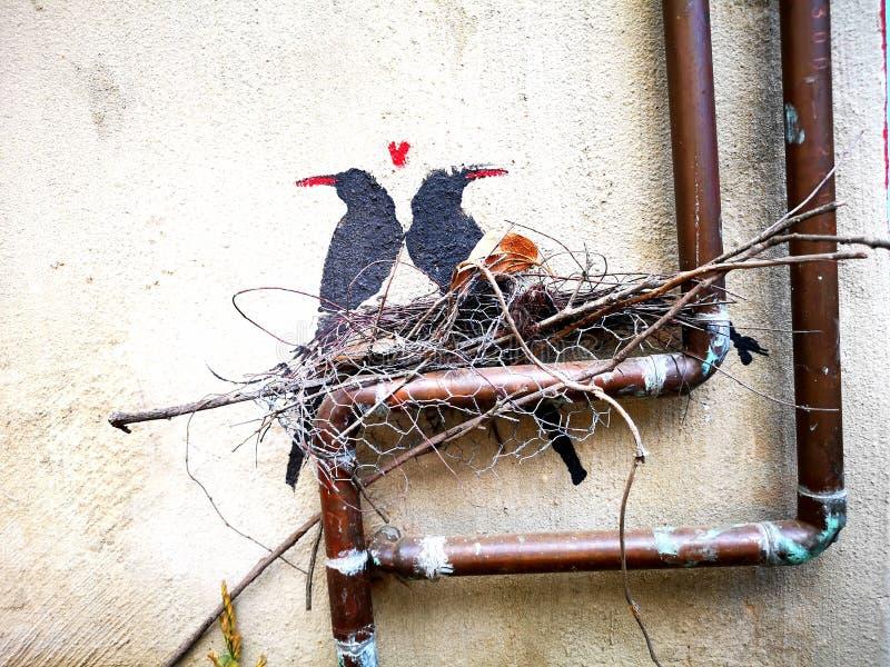 Pájaros estarcidos fotos de archivo libres de regalías