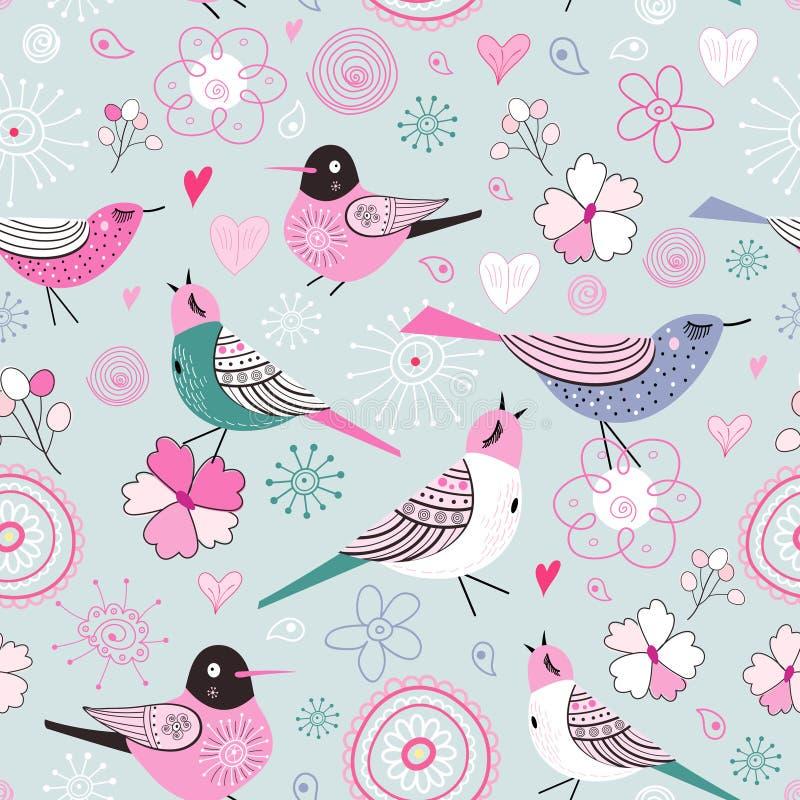 Pájaros finos de la textura ilustración del vector