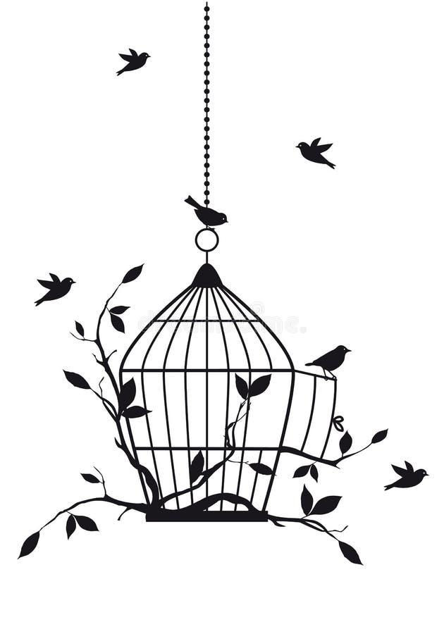 Pájaros libres, vector ilustración del vector
