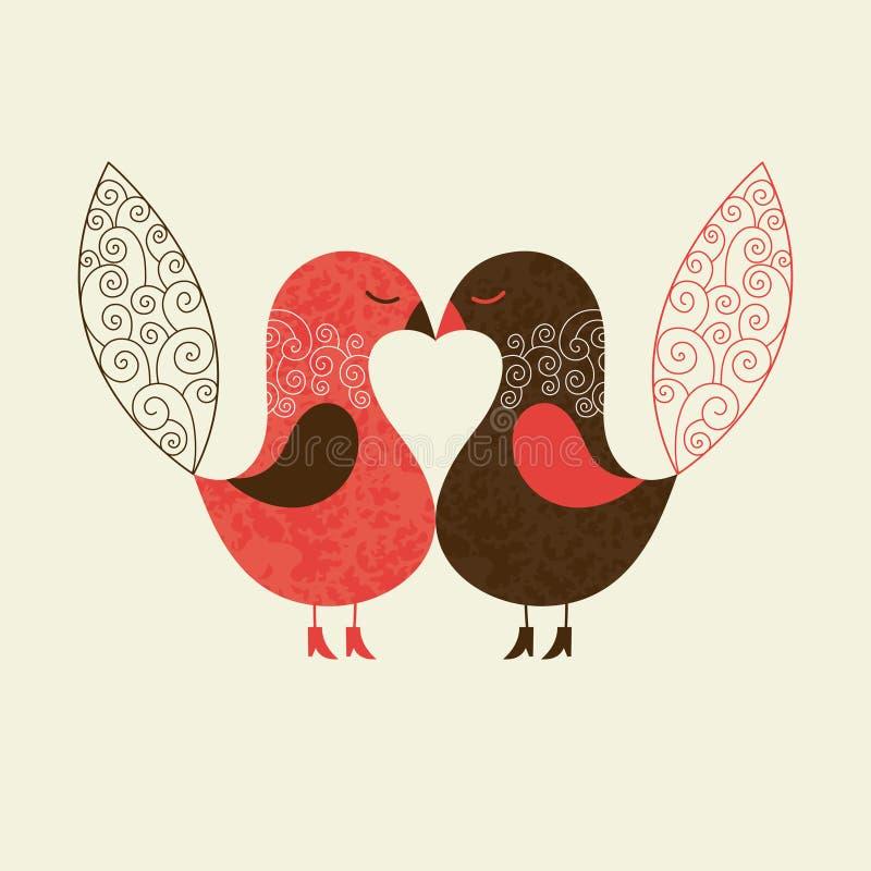 Pájaros lindos ilustración del vector