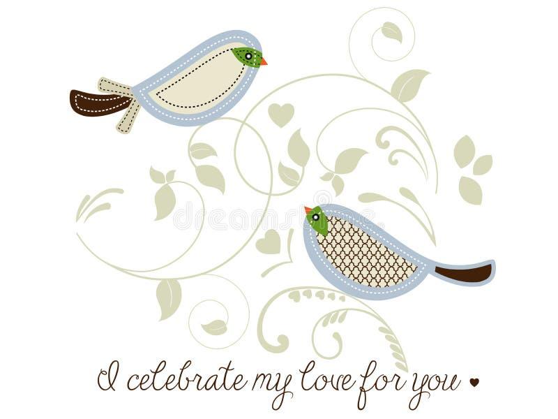 Pájaros que celebran amor libre illustration
