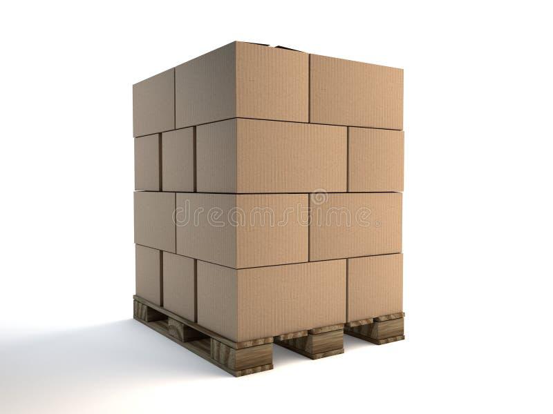 Pálete carregada ilustração stock