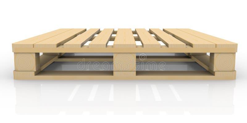 Pálete de madeira ilustração royalty free