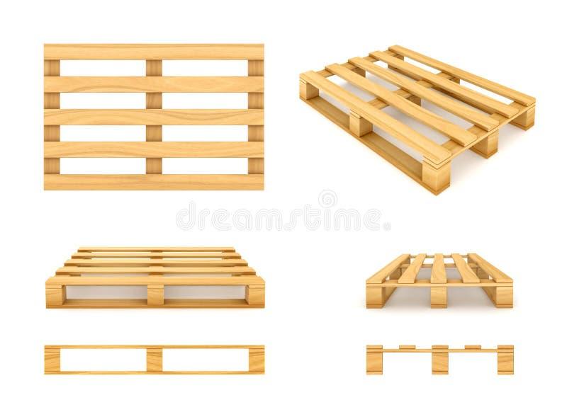 Pálete de madeira ilustração stock