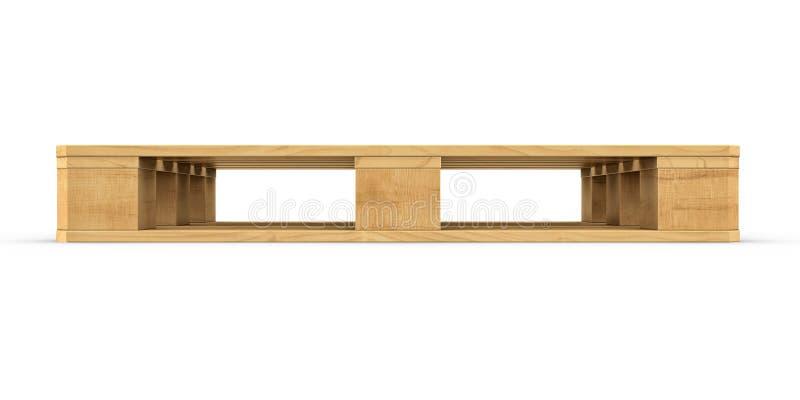 Pálete de madeira isolada no fundo branco fotos de stock