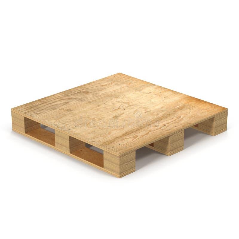 Pálete de madeira Isolado na ilustração 3D branca ilustração do vetor
