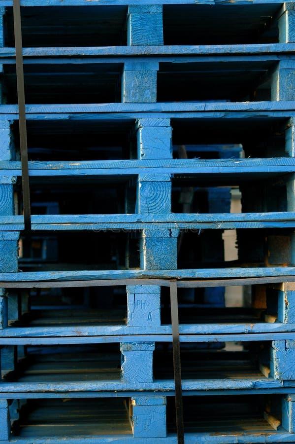 Páletes azuis fotos de stock royalty free