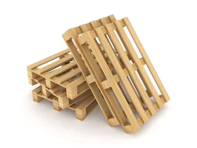 Páletes de madeira ilustração royalty free