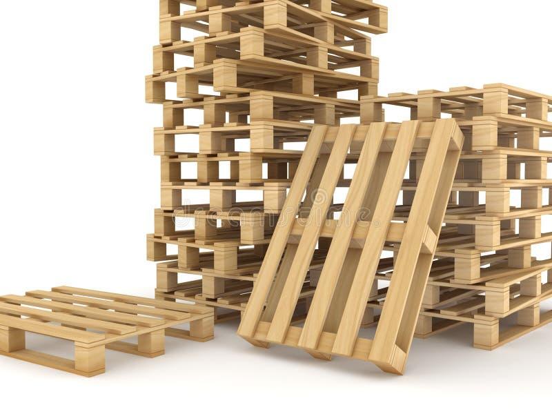 Páletes de madeira ilustração stock