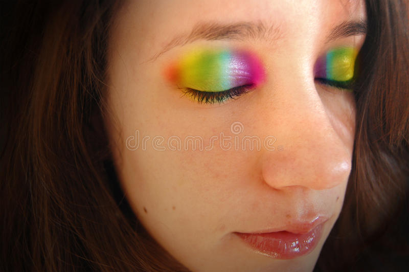 Pálpebras do arco-íris imagens de stock royalty free