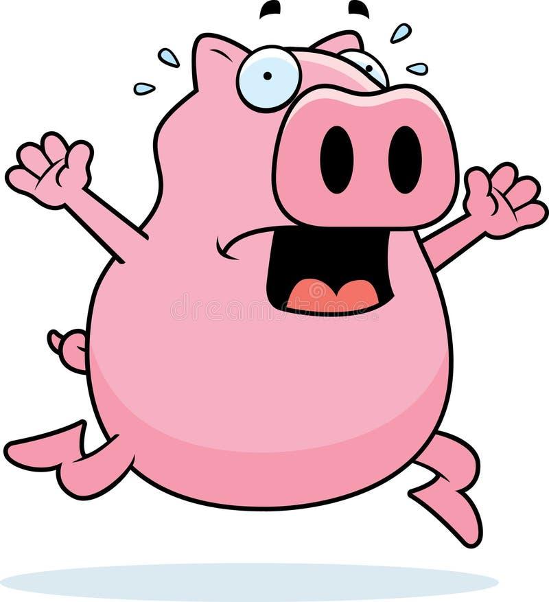 Pánico del cerdo stock de ilustración