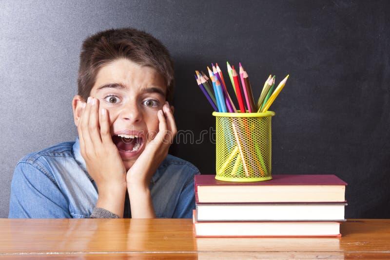 Pánico en la escuela foto de archivo libre de regalías