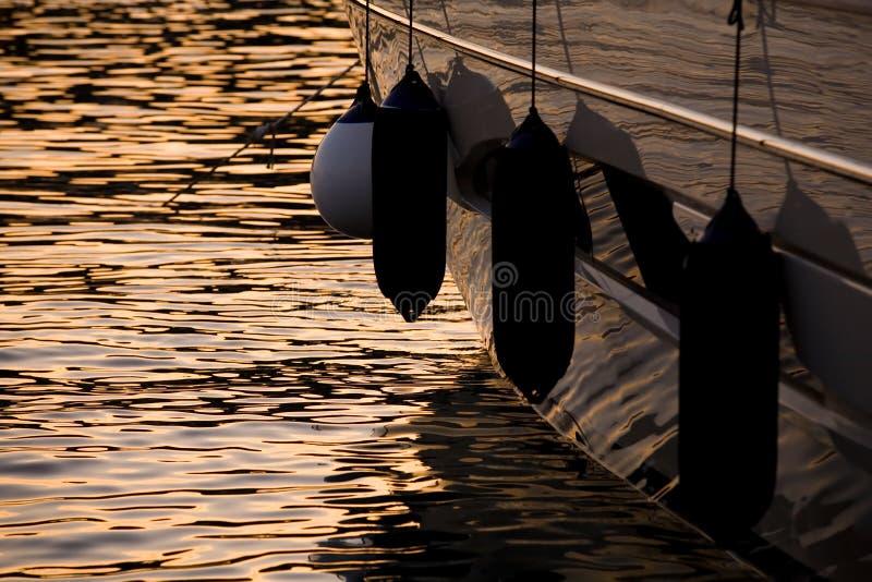 Pára-choques do barco fotografia de stock
