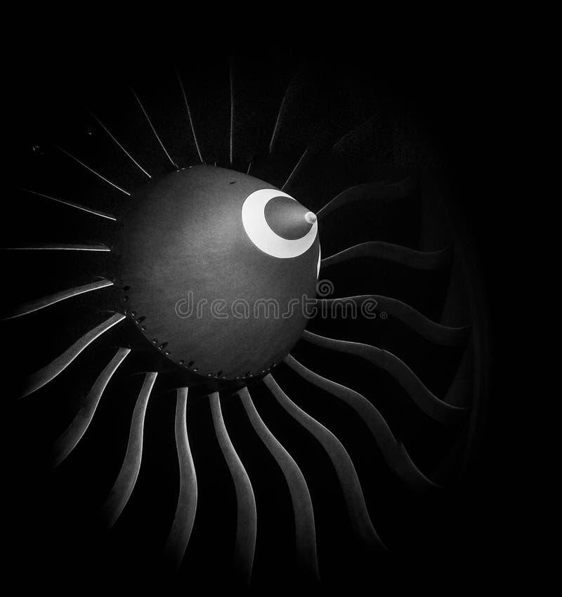 Pás do ventilador dos aviões fotos de stock