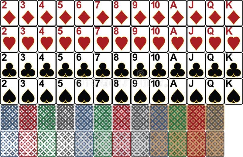 Pás reais do flash do casino dos cartões de jogo ilustração royalty free