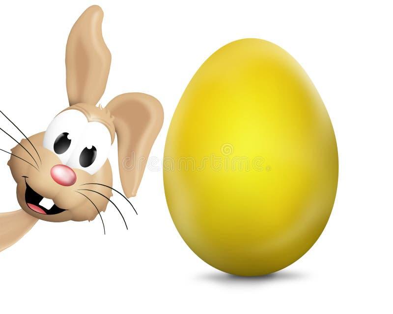 Páscoa Bunny Easter Eggs Festive Elements ilustração stock