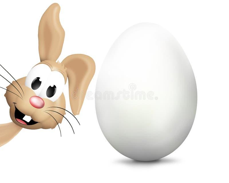 Páscoa Bunny Easter Eggs Festive Elements ilustração do vetor