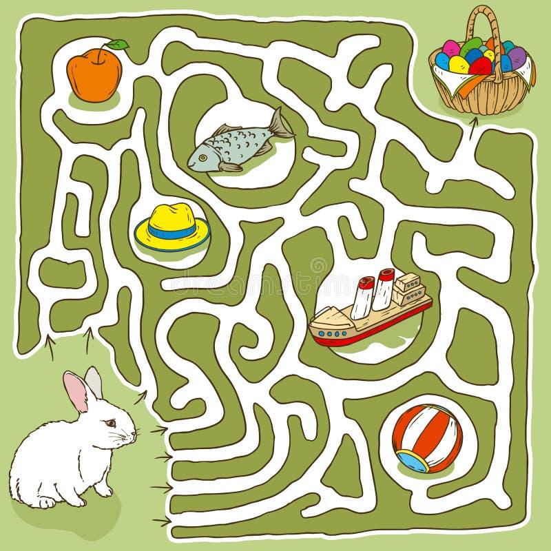 Páscoa Bunny Maze Game ilustração stock