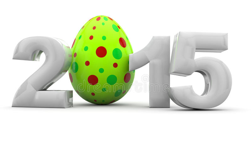 Páscoa 2015 com ovo da páscoa ilustração stock