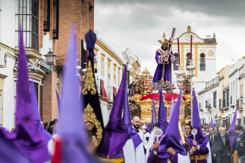 Páscoa da Semana Santa Marchena SEVILHA Nazarene Jesus fotos de stock