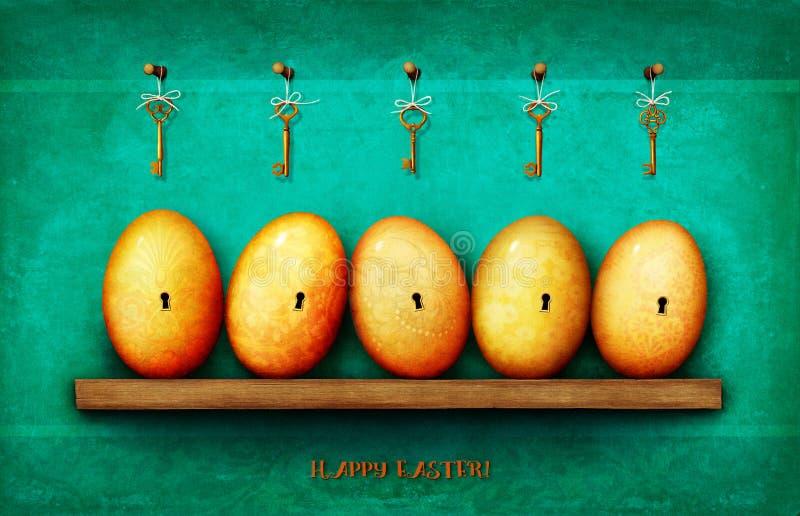 Páscoa do cartão ilustração royalty free