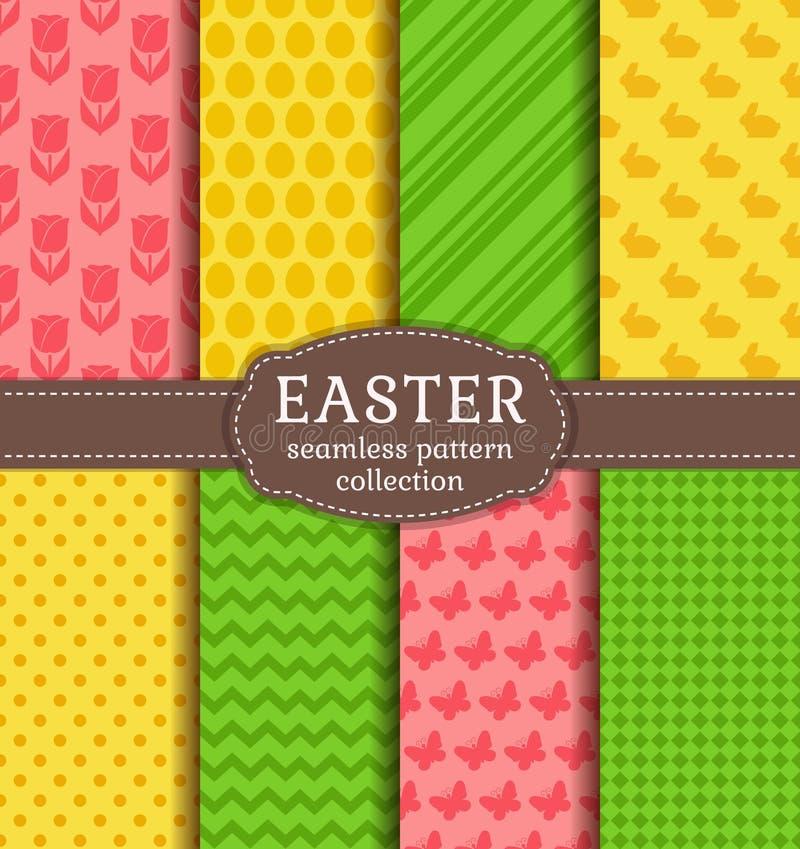Páscoa feliz! Testes padrões sem emenda do vetor ilustração royalty free