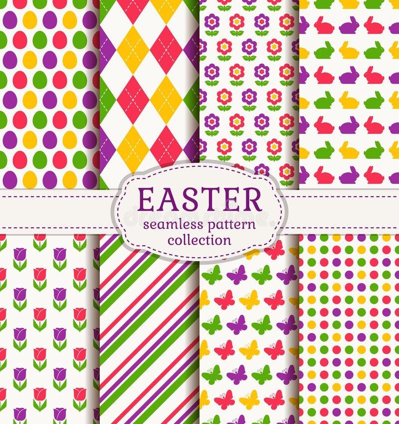 Páscoa feliz! Testes padrões sem emenda do vetor ilustração do vetor