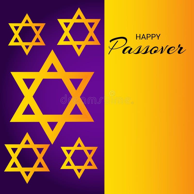 Páscoa judaica feliz ilustração do vetor