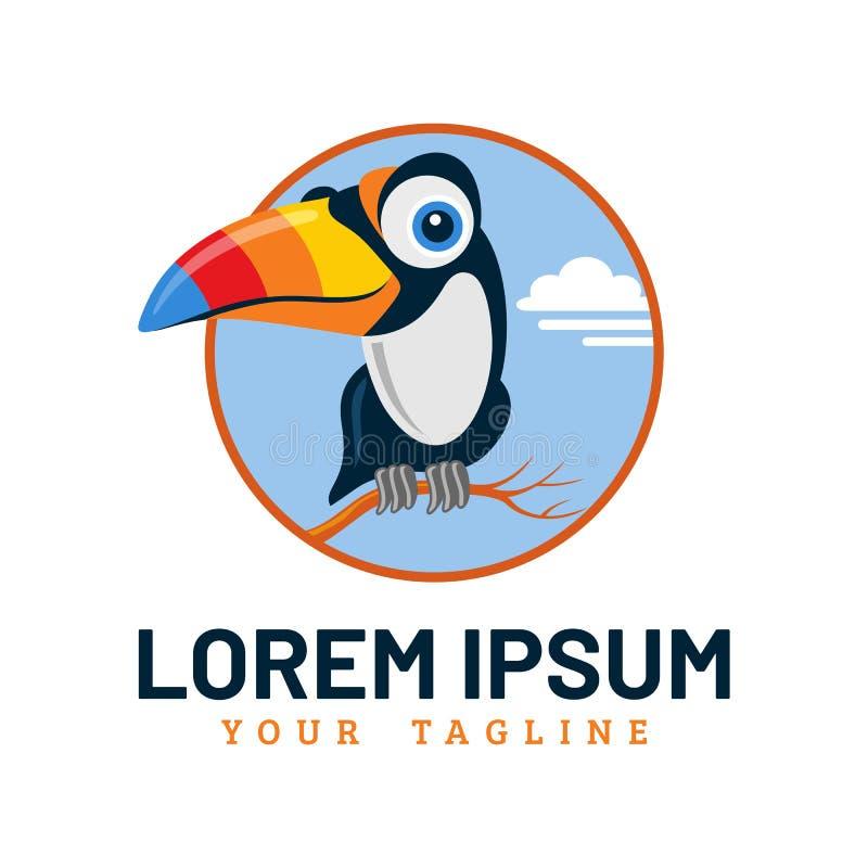 Pássaro bonito Logo Template do tucano imagem de stock royalty free
