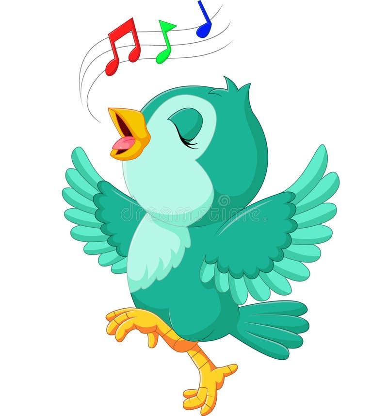 Pássaro bonito que canta ilustração royalty free