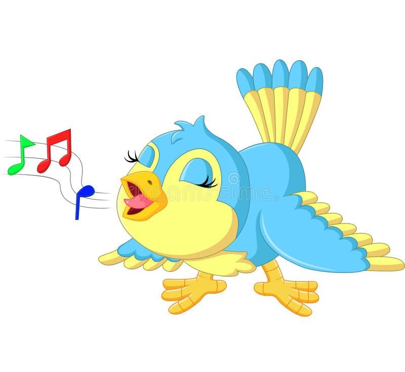 Pássaro bonito que canta ilustração do vetor